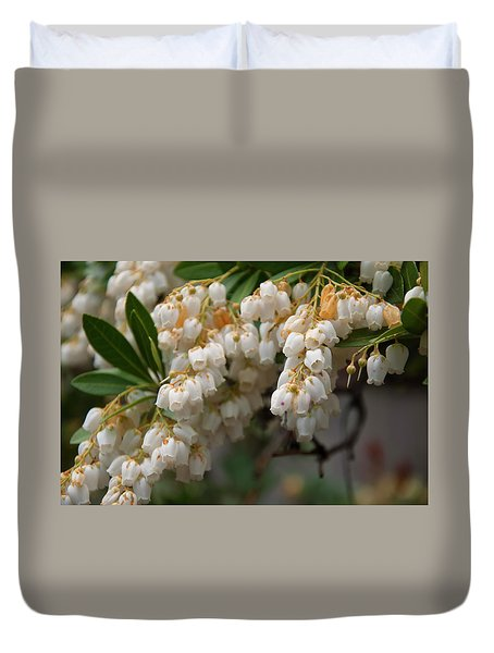 Duvet Cover featuring the photograph Temple Bells Andromedia by Chris Flees