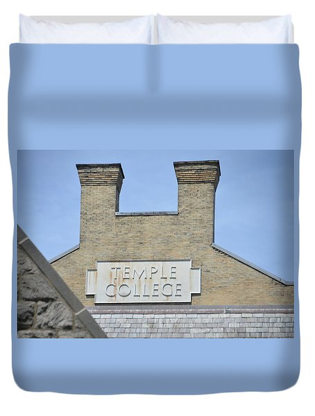 Temple College Duvet Cover by Bill Cannon