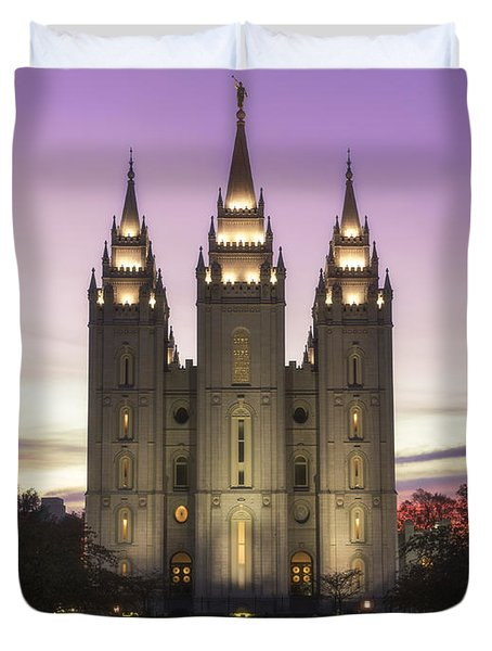 Temple Courtyard Duvet Cover