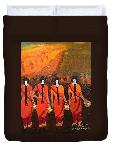 Temple Dancers Duvet Cover