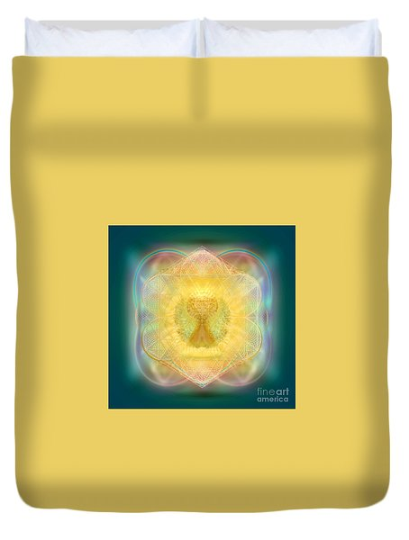 Temple Fire Chalice Duvet Cover