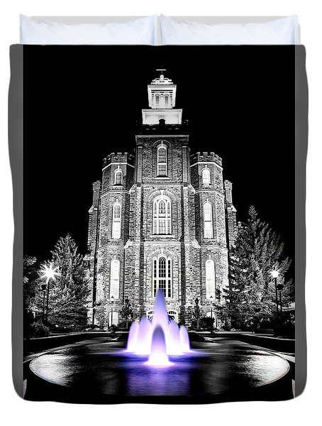 Temple Fountain  Duvet Cover