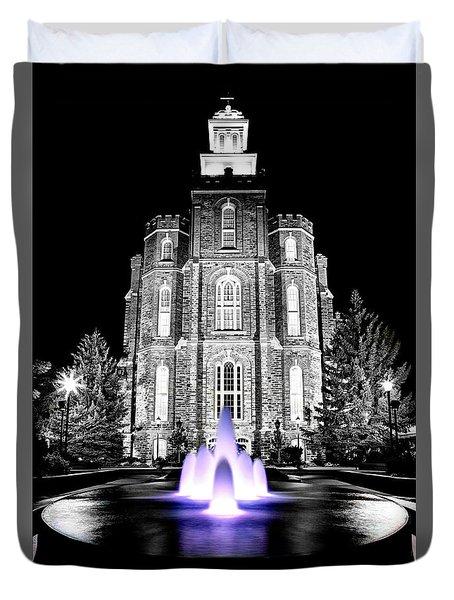 Temple Fountain  Duvet Cover