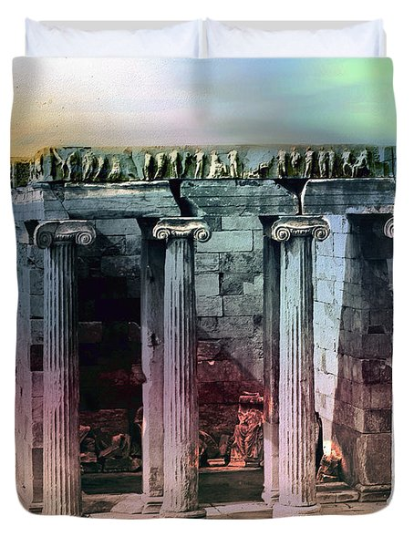 Temple Of Athena Duvet Cover