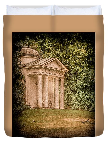 Kew Gardens, England - Temple Of Bellona Duvet Cover
