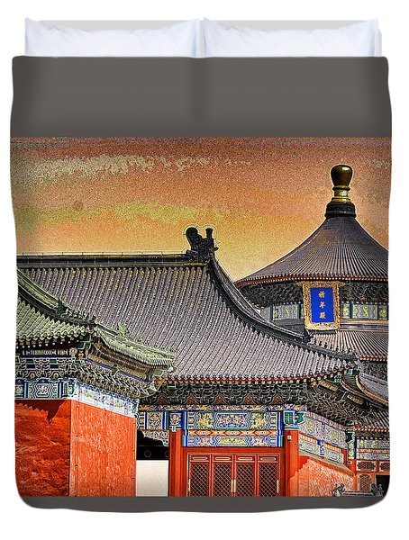 Temple Of Heaven Duvet Cover by Dennis Cox ChinaStock