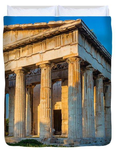 Temple Of Hephaestus Duvet Cover