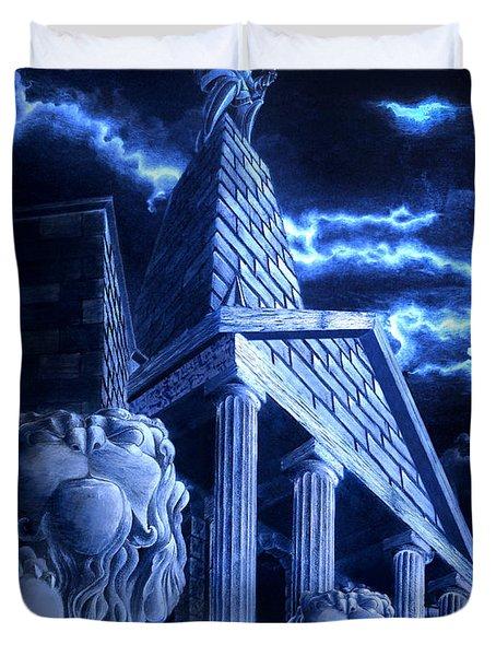 Temple Of Hercules In Kassel Duvet Cover