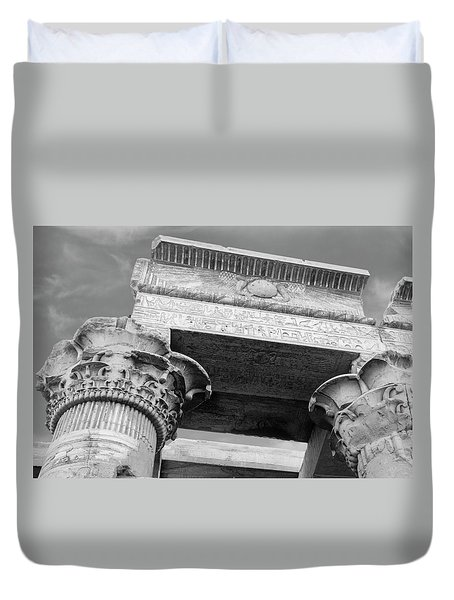 Duvet Cover featuring the  Temple Of Kom Ombo by Silvia Bruno