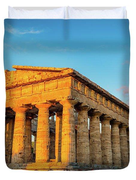 Temple Of Neptune Duvet Cover