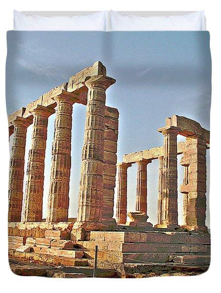 Temple Of Poseidon - Cape Sounion, Greece Duvet Cover