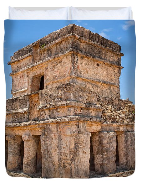 Temple Of The Frescos Duvet Cover