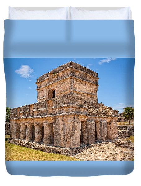 Temple Of The Frescos Duvet Cover