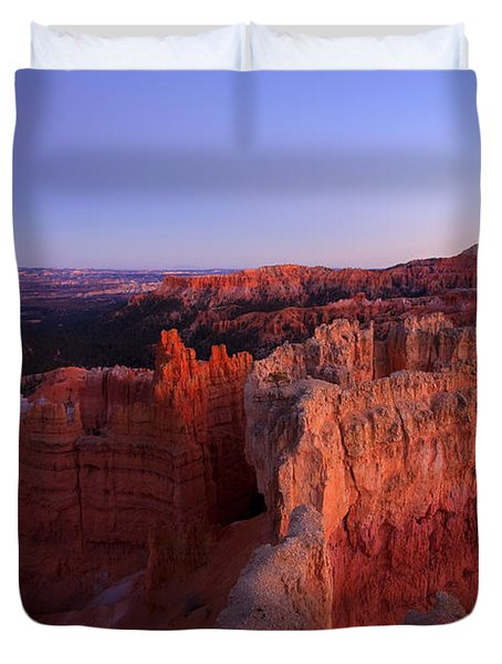 Temple Of The Setting Sun Duvet Cover