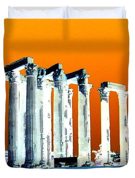 Temple Of Zeus Duvet Cover