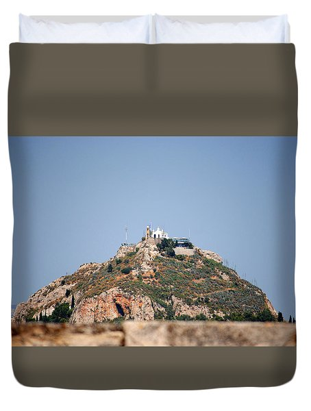 Duvet Cover featuring the photograph Temple Of Zeus by Robert Moss