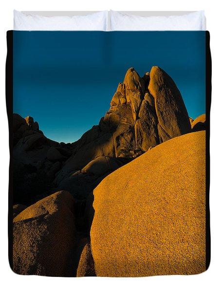 Temple Rock, Joshua Tree, Sunrise Duvet Cover