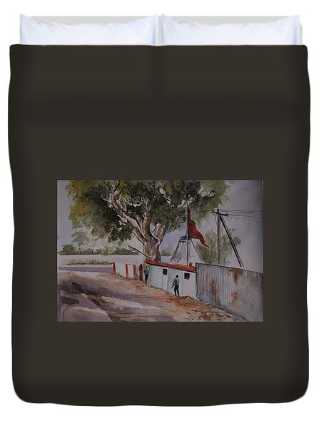 Temple Scene1 Duvet Cover