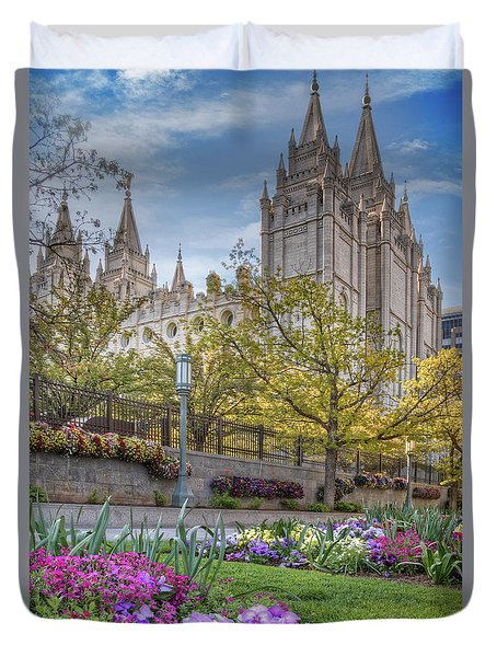 Temple Square Salt Lalke City Utah Duvet Cover