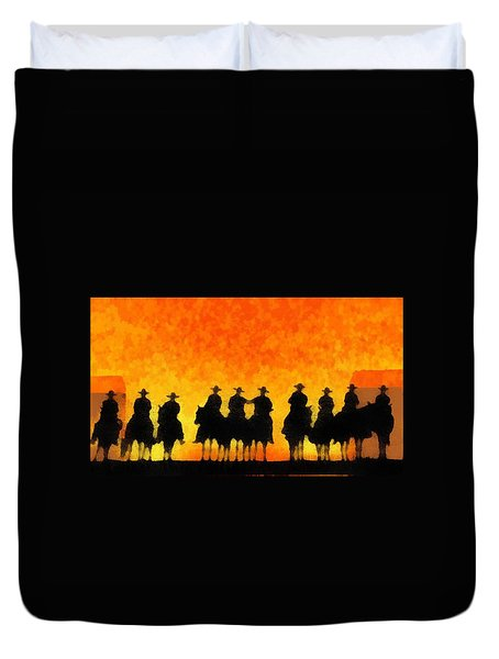 Ten Cowboys Duvet Cover