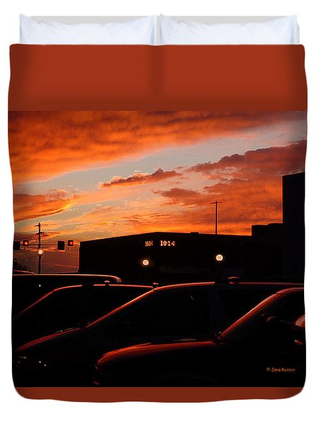Duvet Cover featuring the digital art Ten Fourteen P.m. by Jana Russon