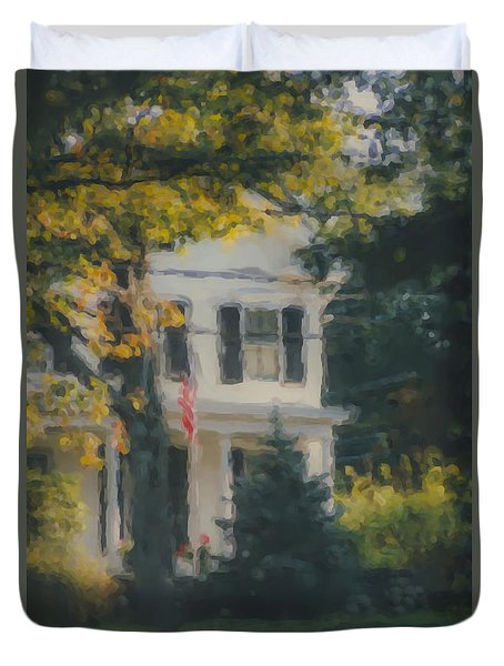 Ten Lincoln Street, Easton, Ma Duvet Cover