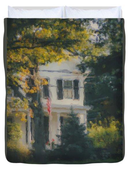 Ten Lincoln Street, Easton, Ma Duvet Cover