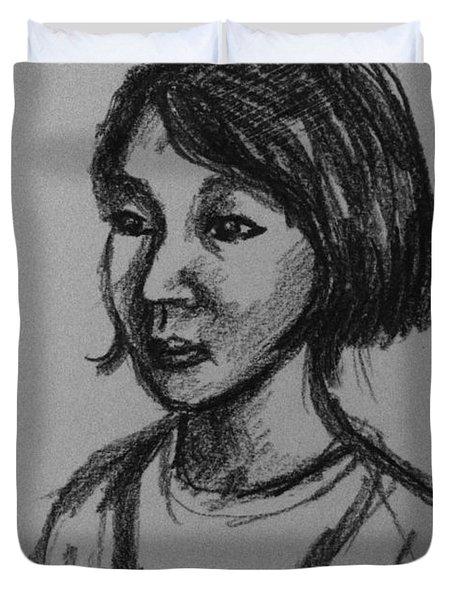 Ten Minute Portrait  Duvet Cover