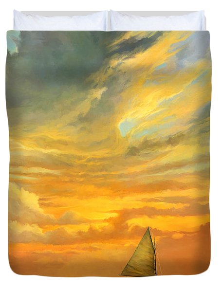 Ten Thousand Islands Duvet Cover