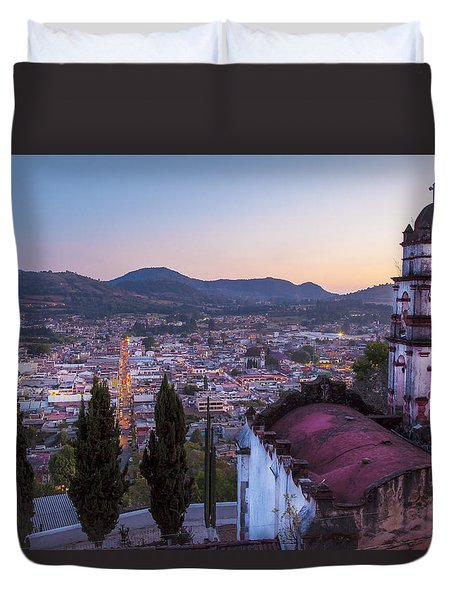 Duvet Cover featuring the photograph Tenancingo by John  Bartosik
