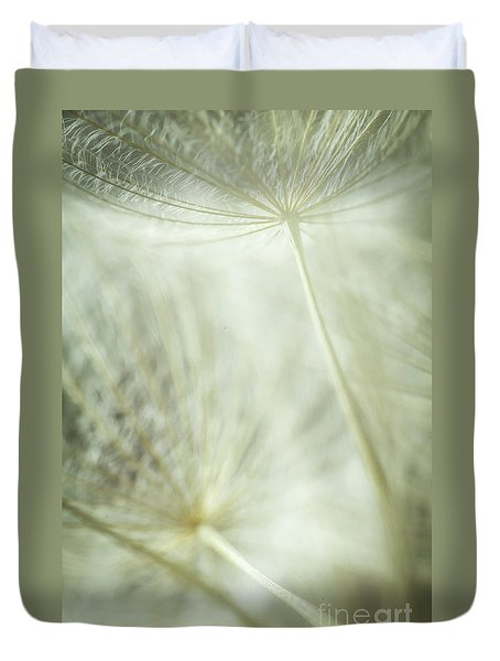 Tender Dandelion Duvet Cover by Iris Greenwell