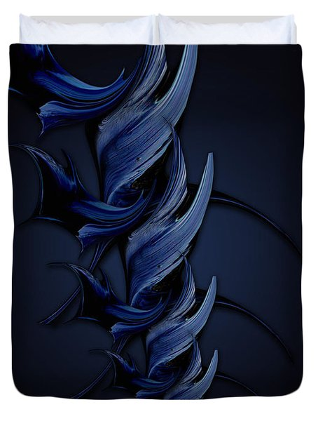 Tender Vision Of Blue Feeling Duvet Cover