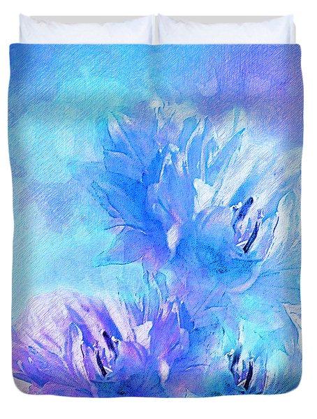 Duvet Cover featuring the digital art Tenderness by Klara Acel