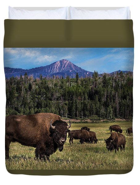 Tending The Herd Duvet Cover