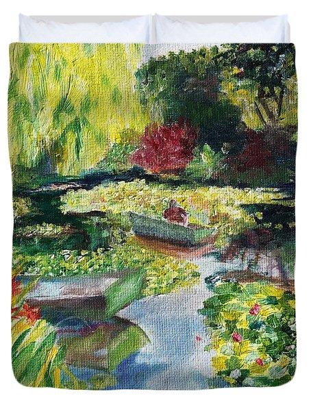 Tending The Pond Duvet Cover