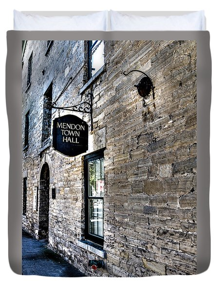 Mendon Town Hall Duvet Cover