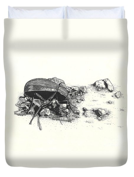 Darkling Beetle Duvet Cover