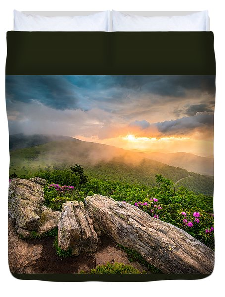 Tennessee Appalachian Mountains Sunset Scenic Landscape Photography Duvet Cover
