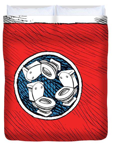 Tennessee Bathroom Flag Duvet Cover