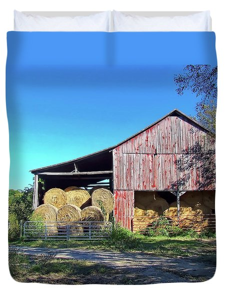 Tennessee Hay Barn Duvet Cover
