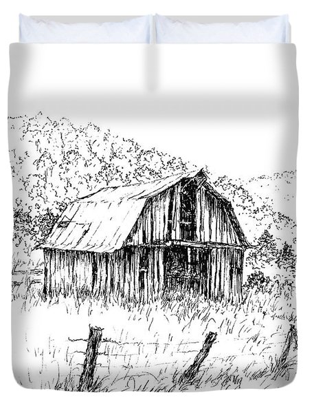 Tennessee Hills With Barn Duvet Cover
