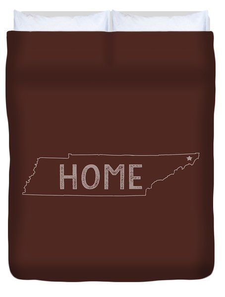 Duvet Cover featuring the digital art Tennessee Home by Heather Applegate
