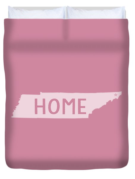 Duvet Cover featuring the photograph Tennessee Home White by Heather Applegate