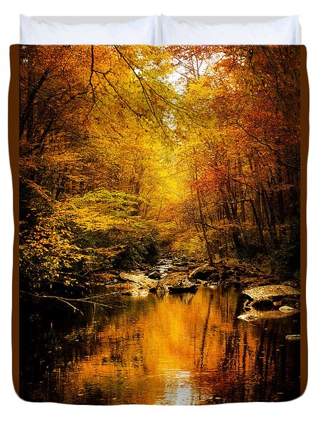 Tennessee Mountains Autumn Duvet Cover