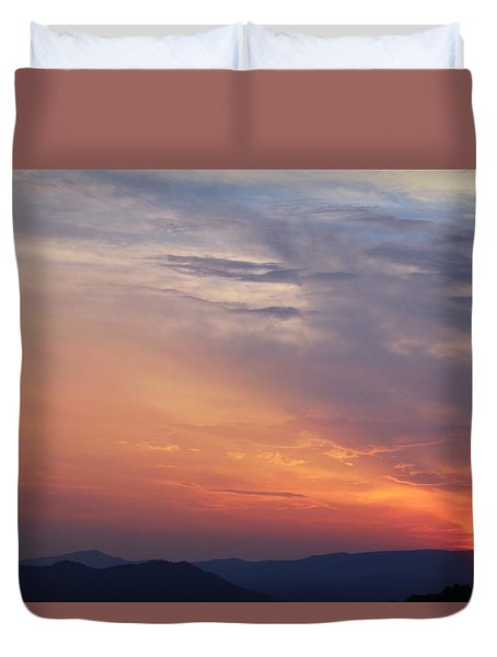 Tennessee Sunset Duvet Cover by Beth Vincent
