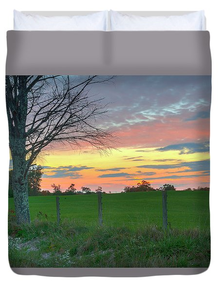 Duvet Cover featuring the photograph Tennessee Sunset by David Waldrop