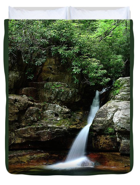 Tennessee's Blue Hole Falls Duvet Cover