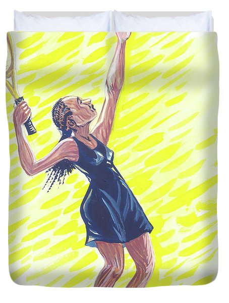 Tennis 01 Duvet Cover by Emmanuel Baliyanga
