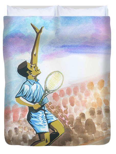 Tennis 02 Duvet Cover by Emmanuel Baliyanga
