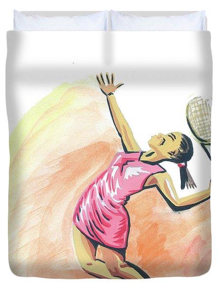 Tennis 03 Duvet Cover by Emmanuel Baliyanga